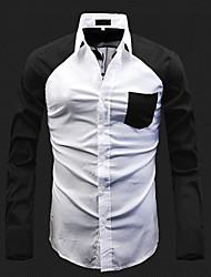 Version coréenne Homme Couleur de blocage shirts
