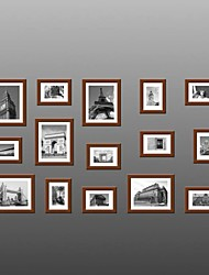 Frame Collection Marroni Colore Photo Wall Set di 15