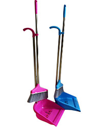 Modern Classic Hogar Sólido Broom metal y polvo Pan Set - 2 colores disponibles