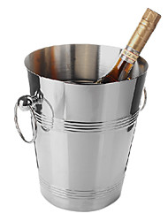 Ice Bucket, Stainless Steel, W19cm x L19cm x H23cm