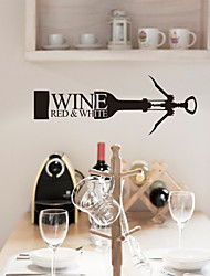 Still Life Wine Bottle Decorative Wall Stickers