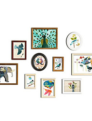 Casual Style Photo Wall Frame Collection - Set of 10