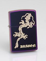 Isqueiro personalizado padrão gravado Dragão Óleo de Rosa