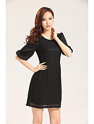 Missmay Women's Black Sleeve Dress