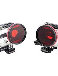 Adaptador de Vivienda 58mm Profesional Profesional de Buceo + filtro rojo para Gopro Hero3