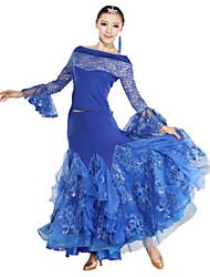 Rendimiento increíble viscosa del bordado del cordón del vestido de la danza moderna (más colores)