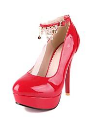 Bombas de couro de patente de plataforma dos saltos de estilete das mulheres / Salto com tênis imitação (mais cores)