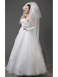 Three Tier Cathedral Wedding Veil With Rhinestones