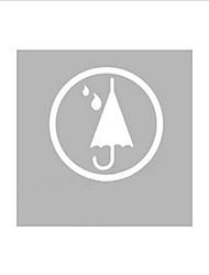 Parapluie moderne offrant le service Icône autocollant de fenêtre