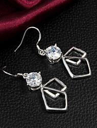 Boucles d'oreilles pendantes des femmes Slivery alliage de haute qualité en Europe-Style (1 paire)