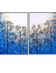 Hand Painted  Oil Painting Landscape with Stretched Frame Set of 2