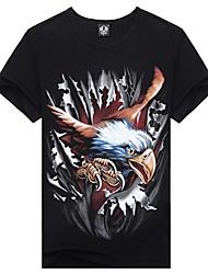 Men's 3D Condor Earth Print Short Sleeve T-shirt