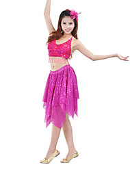 Dancewear Women's Sequin Tassels Polyester Belly Dance Skirt(More Colors)