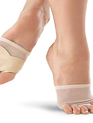 Ballet da Mulher Elástica Dança Net cinco buracos Metade Sole Pads Acessórios