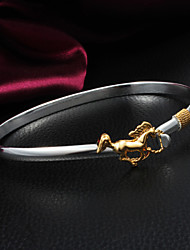 High Quality Delicate Silver Silver-Plated With Gold-Plated Horse Locked Bangle Bracelets