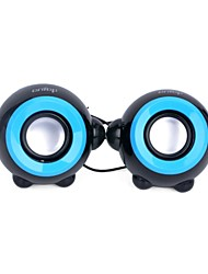Cartoon Style Mini 6W USB Powered Stereo Speakers - Black