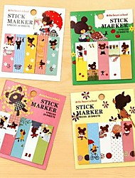 Lovely Jack Baer Self-stick Note(1PCS 80Page)