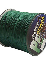 500M / 550 Yards PE Braided Line / Dyneema / Superline Fishing Line Green 30LB / 40LB 0.26,0.28 mm For Sea Fishing / Freshwater Fishing