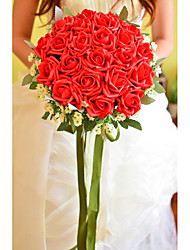 "Wedding Flowers Round Roses Bouquets Wedding Party/ Evening Foam 10.24""(Approx.26cm)"