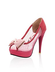 Frauen Pfennigabsatz Peep Toe Pumps / Heels mit Bowknotschuhe (mehr Farben)