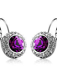 Solitaire Boucles d'oreilles en cristal de femmes alliage avec (plus de couleurs)