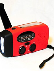 Notfall Wind up Dynamo Solar FM AM Radio-LED-Taschenlampe Ladegerät für Handy iPhone