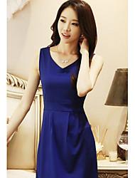 YGR Женская рукавов Основные сплошной цвет платья
