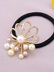 Tsful Hollow-out Alloy Pearl Hair Ring GY140243