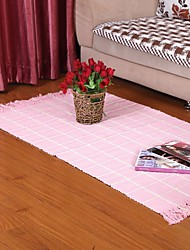 Elaine Pure Cotton Pink Waffle Check Carpet 333631