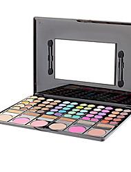 78 Lidschattenpalette Trocken / Schimmer / Mineral Lidschatten-Palette Puder Groß Alltag Make-up / Feen Makeup / Smokey Makeup