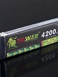 Leão 7.4V 2S 4200MAH 25C Lipo Battery Power para Tamiya HSP RC Car Truck Modelo (T Plug)