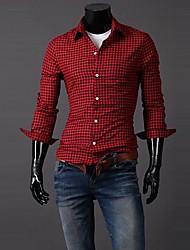 Мужская Пледы Простой рубашка