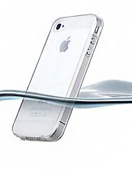 Ultrafino de silicona de nuevo caso transparente para el iPhone 4/4S (colores surtidos)