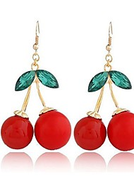 Women's Super Personality Exaggerated Cherries Temperament Stud Earrings