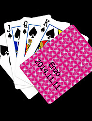 Patrón regalo personalizado Rose Rhombus Playing Card para Poker