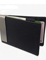 Utility Leather Wallet Clip with Pouch Card Case Holder