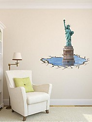3D La Statua della Libertà Wall Stickers Wall Decals