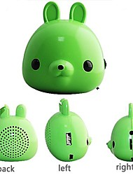 Portable Rabbit High Quality Sound Mini Speaker for iPod MP4 MP3