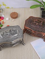 """""""Primitieve Hunting"""" Vintage Tutania Jewelry Box (meer kleuren)"""