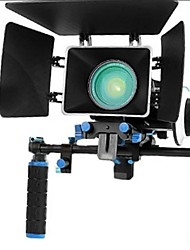 Kit de la película Rig Con Follow Focus + Shoulder Mount Holder + Mattebox Cámara Rig para cámaras Réflex