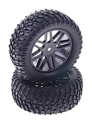 90 milímetros de borracha de pneus para 1:10 RC Car On-road in Black (2 peças)