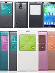 s Sichtfenster Flip Cover für Samsung Galaxy i9600 s5 (verschiedene Farben)