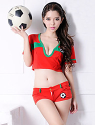 Energetic Girl Red Polyester 2014 Brazil World Cup Football Baby Cheerleader Uniform