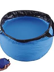Outdoor Sports dobrável Nylon Lavatório Azul (5L)