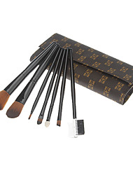 7Pcs Grid Cosmetic Brush Suit
