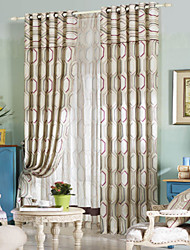 (Two Panels) Modern Classic Geometric Pattern Energy Saving Curtain