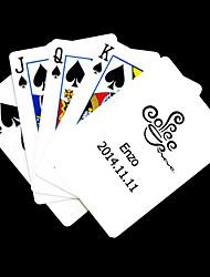 Regalo personalizado Modelo blanco café Playing Card para Poker