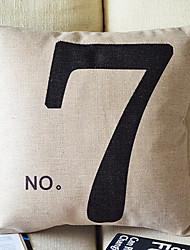 Numéro 7 Simplicité Décoration Oreiller avec insert