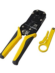 BOSI Modular Plug Crimper Pliers Tool for 8P8C Network Cable with Cutter - Yellow and Black