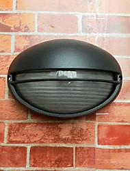 Outdoor Wall Light, 1 Luce, pittura moderna in alluminio Vetro